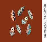 feathers pattern | Shutterstock .eps vector #637839430
