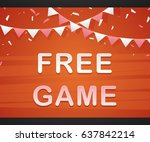 free game on red background...