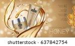 honey skin care series ads.... | Shutterstock .eps vector #637842754