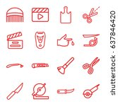 cut icons set. set of 16 cut... | Shutterstock .eps vector #637846420