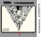 vector notebooks with fine...   Shutterstock .eps vector #637850773