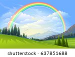 a beautiful landscape of vast... | Shutterstock .eps vector #637851688