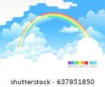 rainbow across vast skies.  | Shutterstock .eps vector #637851850