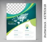 vector abstract template design ... | Shutterstock .eps vector #637852618