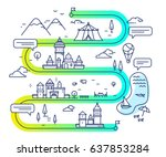 vector illustration of city... | Shutterstock .eps vector #637853284