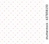 seamless pattern of salmon pink ... | Shutterstock .eps vector #637858150
