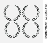 set icon laurel wreath   vector ... | Shutterstock .eps vector #637858540