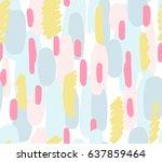 brush strokes background ... | Shutterstock .eps vector #637859464