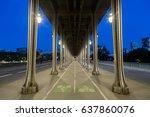 bir hakeim bridge in paris....   Shutterstock . vector #637860076