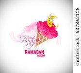 illustration of ramadan kareem... | Shutterstock .eps vector #637862158