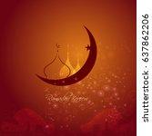 illustration of ramadan kareem... | Shutterstock .eps vector #637862206