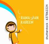 illustration of ramadan kareem... | Shutterstock .eps vector #637862224