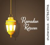 illustration of ramadan kareem... | Shutterstock .eps vector #637863946
