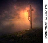 Jesus Hanging On The Cross Wit...