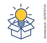 big idea bulb symbol   Shutterstock .eps vector #637870714
