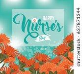 international nurse's day icon... | Shutterstock .eps vector #637871344