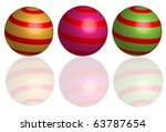 abstract shperes | Shutterstock .eps vector #63787654