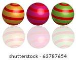 abstract shperes | Shutterstock .eps vector #63787654