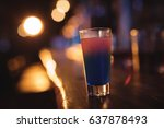 close up of cocktail drink at... | Shutterstock . vector #637878493
