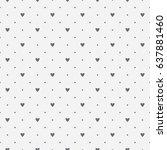 seamless pattern of black heart ... | Shutterstock .eps vector #637881460