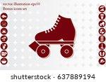 vector illustration of roller...   Shutterstock .eps vector #637889194