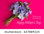 happy mother's day flower... | Shutterstock . vector #637889224
