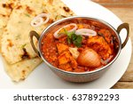 indian food or indian curry in... | Shutterstock . vector #637892293