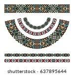 neck decoration  necklace ... | Shutterstock .eps vector #637895644
