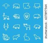 mammal icons set. set of 16... | Shutterstock .eps vector #637897564
