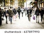covent garden  london  30...   Shutterstock . vector #637897993