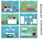 illustrations of empty medical... | Shutterstock .eps vector #637903198