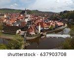 cesky krumlov in the czech  old ... | Shutterstock . vector #637903708