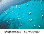 summer in sardinia  aerial... | Shutterstock . vector #637903900