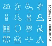 profile icons set. set of 16... | Shutterstock .eps vector #637905703
