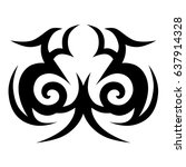 tattoo tribal vector design.... | Shutterstock .eps vector #637914328
