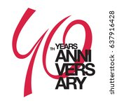 40th anniversary emblem. forty... | Shutterstock .eps vector #637916428