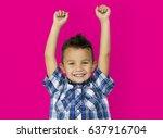 child boy studio portrait... | Shutterstock . vector #637916704
