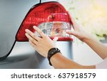 image of a man checking his... | Shutterstock . vector #637918579
