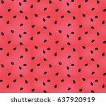 vector watermelon background... | Shutterstock .eps vector #637920919