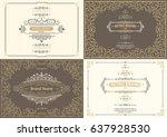 monogram creative cards... | Shutterstock .eps vector #637928530