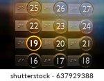elevator or lift numeric... | Shutterstock . vector #637929388