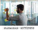 businessman planning by glass... | Shutterstock . vector #637929853