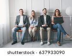 group of young creative people... | Shutterstock . vector #637933090