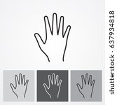 line icon  hand | Shutterstock .eps vector #637934818