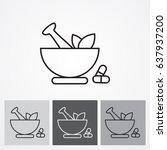 line icon  pharmacy | Shutterstock .eps vector #637937200