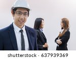 young business man wear black... | Shutterstock . vector #637939369