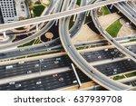 scenic aerial view of big... | Shutterstock . vector #637939708