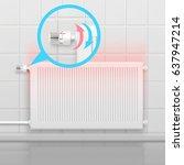 radiator conceptual composition ... | Shutterstock .eps vector #637947214