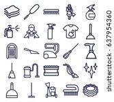 cleaner icons set. set of 25... | Shutterstock .eps vector #637954360