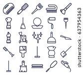 brush icons set. set of 25... | Shutterstock .eps vector #637954363